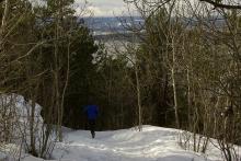 Jogging på Utsiktsstien